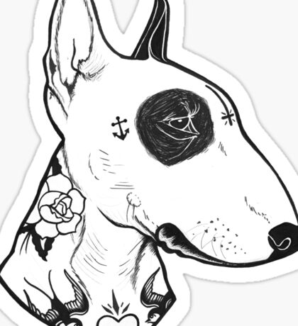 Tattooed Bullterrier Sticker