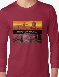 HYPERION WORLD SCIENCE FICTION Scifi Long Sleeve T-Shirt