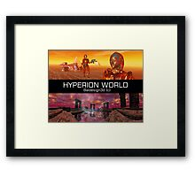 HYPERION WORLD SCIENCE FICTION Scifi Framed Print