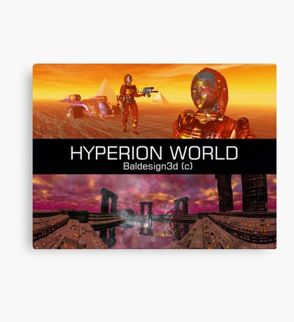 HYPERION WORLD SCIENCE FICTION Scifi Canvas Print