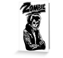 Zombie glam rock skull Greeting Card