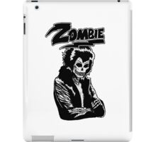 Zombie glam rock skull iPad Case/Skin