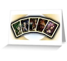 Initial 5 Oracle Cards Greeting Card