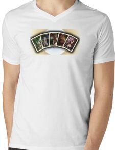 Initial 5 Oracle Cards Mens V-Neck T-Shirt