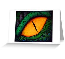dragon eye - pastel and giant marker Greeting Card