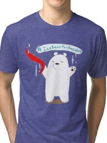 Ice Bear For President Tri-blend T-Shirt