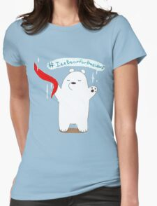 Ice Bear For President Womens Fitted T-Shirt