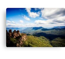 A view over the Blue Mountains Canvas Print