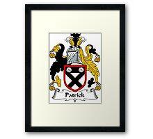 Patrick Coat of Arms / Patrick Family Crest Framed Print