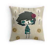 EMO- Candles and Roses Throw Pillow