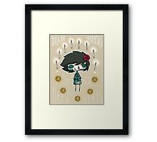 EMO- Candles and Roses Framed Print