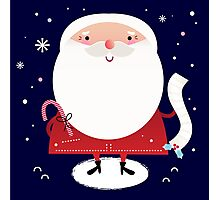 Cute Santa with note Vector cartoon Photographic Print