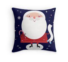 Cute Santa with note Vector cartoon Throw Pillow