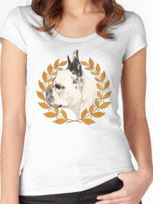 French Bulldog - @french_alice Women's Fitted Scoop T-Shirt