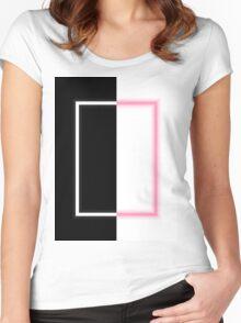The 1975 Album Neon Artwork Pixel Art Women's Fitted Scoop T-Shirt