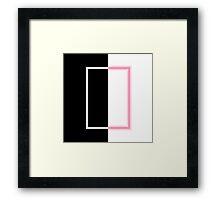 The 1975 Album Neon Artwork Pixel Art Framed Print