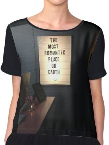 The Most Romantic Place on Earth Chiffon Top