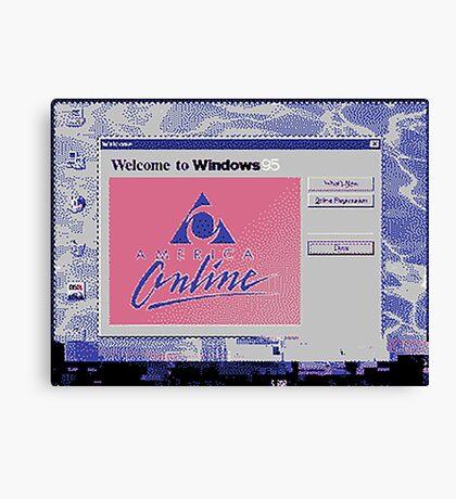 america online Canvas Print