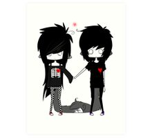 EMO- Forever You And I Art Print
