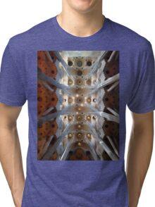 Looking up - Sagrada Familia Tri-blend T-Shirt