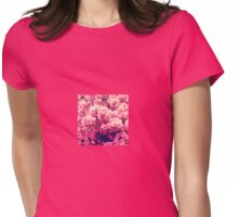 Blossoming Pink Azalea Bush Womens Fitted T-Shirt