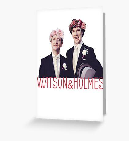 Johnlock | Flower Crowns Greeting Card