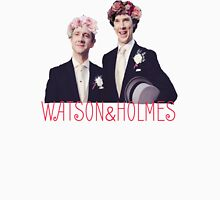 Johnlock | Flower Crowns Womens Fitted T-Shirt