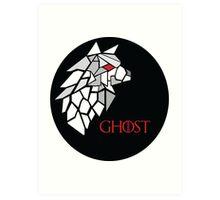 Direwolf - Ghost Art Print