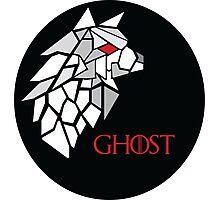 Direwolf - Ghost Photographic Print