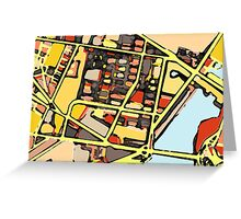 Abstract Map of East Cambridge Greeting Card