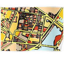 Abstract Map of East Cambridge Poster