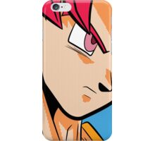 Goku ssj God iPhone Case/Skin
