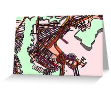 Abstract Map of East Boston Greeting Card
