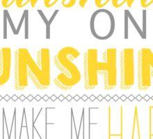 Sunshine White Sticker