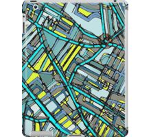 Abstract Map of Davis Square, Somerville iPad Case/Skin