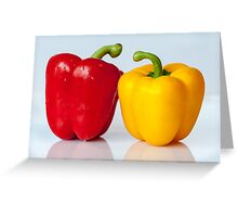 Red and yellow peppers Greeting Card