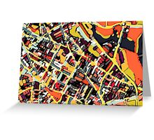 Abstract Map of Somerville Greeting Card