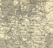 Vintage Map Of Europe (Early 20th Century) Sticker