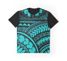 Polynesian Hawaiian All over tribal print Graphic T-Shirt