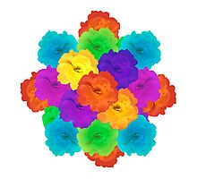 Flowers Collage Ornament Photographic Print