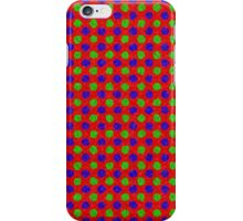 Polka Dot Fur Textured Red Green & Blue Pattern iPhone Case/Skin
