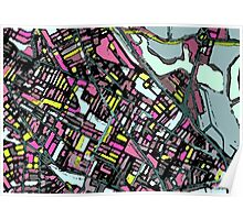 Abstract Map of Somerville Poster
