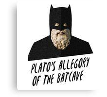 Plato's Allegory of the Batcave Canvas Print