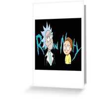 rick and morty ford Greeting Card