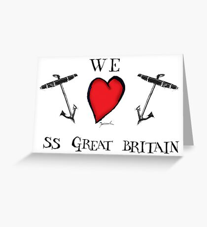 we love ss great britain, tony fernandes Greeting Card