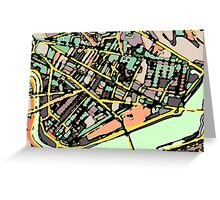 Abstract Map of Cambridge (MA) Greeting Card