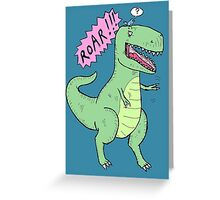 Trex and bird Greeting Card