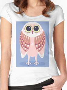 AWAKE OWL Women's Fitted Scoop T-Shirt