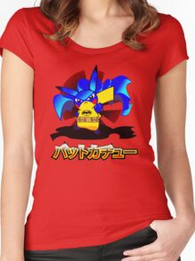 Pokemon Bat Pikachu Women's Fitted Scoop T-Shirt