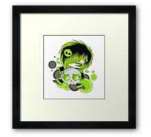 EMO- Green Fashion Framed Print